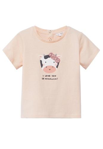 MANGO BABY pink Printed Cotton-Blend T-Shirt 23508KA65CBE58GS_1