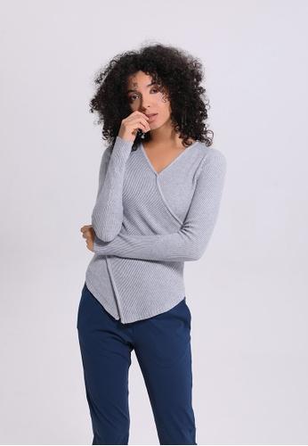 ZITIQUE grey Plain Sporty Sweater 9EC76AAD8AF7A6GS_1