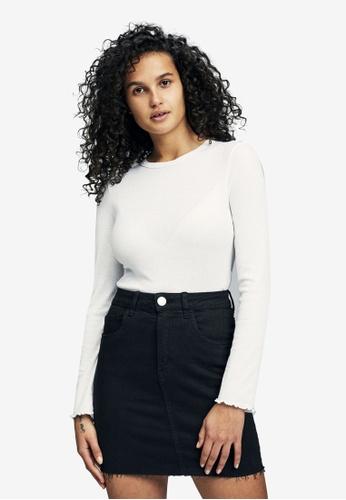 Cotton On black Classic Stretch Denim Mini Skirt 9BD27AA85BCE8AGS_1