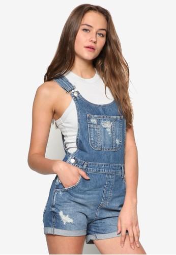MOTO 丹寧吊zalora時尚購物網評價帶短褲, 服飾, 服飾