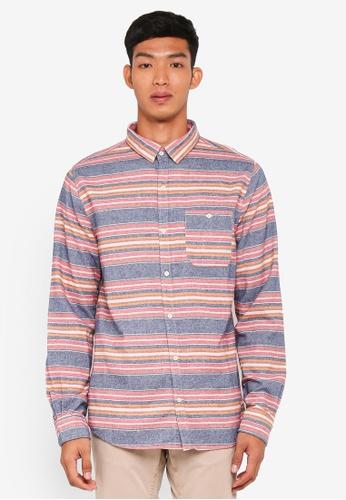 Cotton On 藍色 Rugged Long Sleeve Shirt 1BDB2AAB90ABB4GS_1