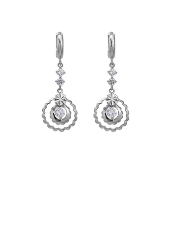 Glamorousky silver Simple Flower Necklace with Silver Austrian Element Crystal F35B3ACE380E34GS_1