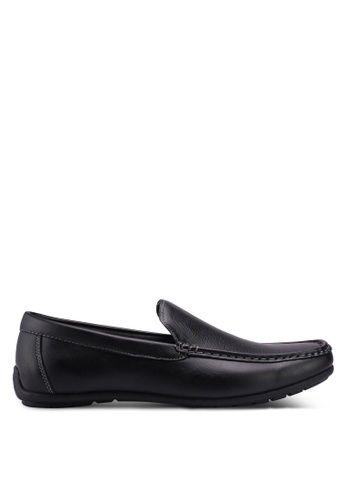Bata black Textured Loafers 36761SH1445A34GS_1