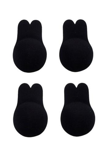 Kiss & Tell black 2 Pack Breast Lift Up Invisble Bra in Black 2E158USA176B45GS_1