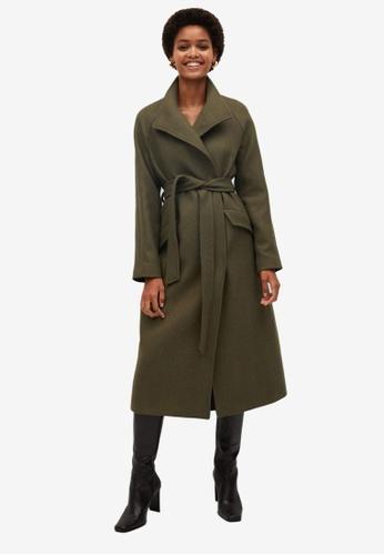 Mango green Belted Wool Coat FD128AA139442EGS_1