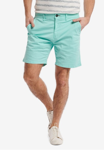Shiwi blue Stretch Cotton Shorts D82D0AAABF547CGS_1