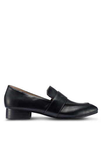 VANESSA WU black Madelyn Loafers 3AD85SH7BE78E1GS_1