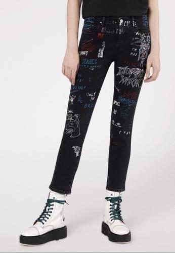 Diesel black Skinny R.Slim Babhila Jeans-Den 041A0AA5F17A44GS_1