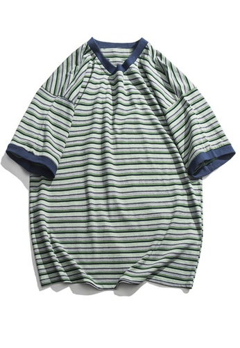 Twenty Eight Shoes Loose Contrast Stripe T-shirts HH9175 EE295AAC0D9B18GS_1