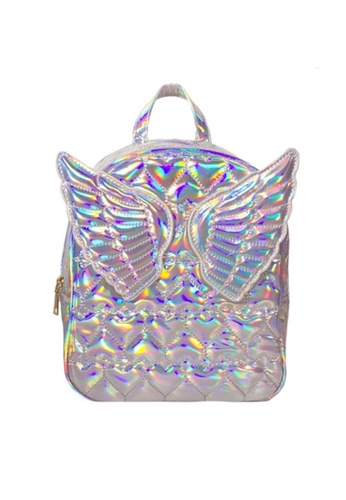 Adkidz silver Adkidz Holographic Angel Wing Backpack 119CEKC4C65CD1GS_1