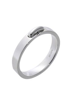 Buckle Silver Ring for Men lr0011m