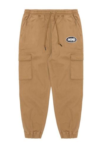 Mini cream brown Logo patch cargo pants 7EAFFAAC7A339DGS_1