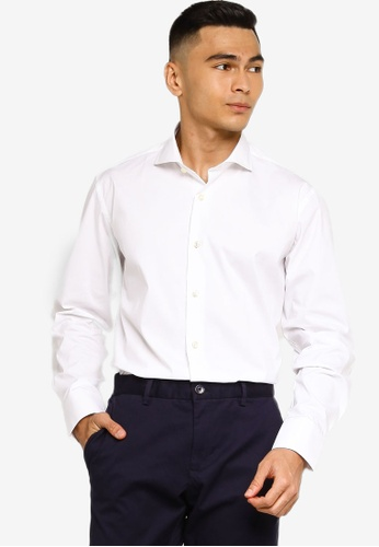 Sacoor Brothers white Regular fit super comfort easy iron shirt 664A2AA7B12BF0GS_1