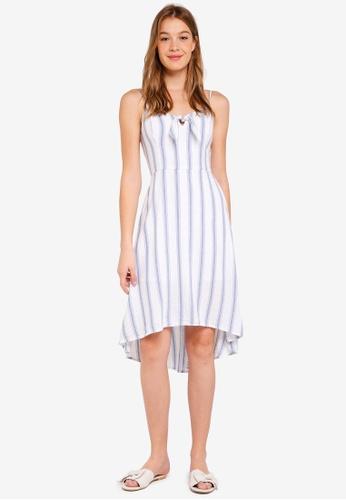 Hollister white Tie Fron Midi Dress C661CAA7924ABFGS_1