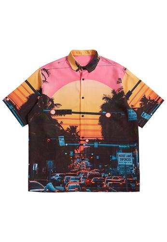 Twenty Eight Shoes Trend Printed Casual Short Sleeve Shirt 2247S21 139E3AAC0D6F81GS_1