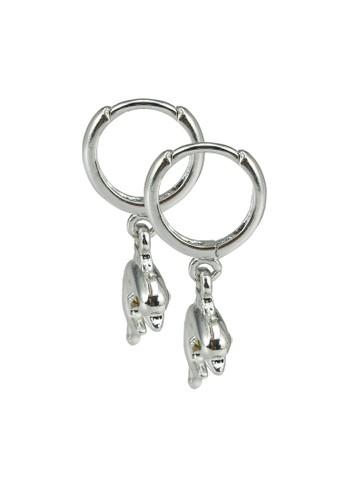 Rubi silver Ear Party Luxe Huggie Hoop Earrings 05476AC38DD32BGS_1