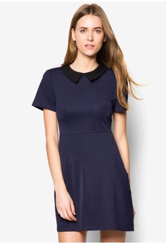 Collection Polo Neck Fit & Flare Dress