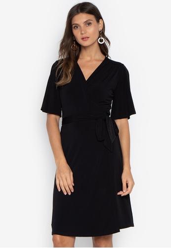 Shop MEMO Knee-Length Wrap Dress Online on ZALORA Philippines 1002b25e9