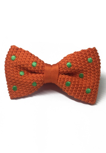 Splice Cufflinks orange Webbed Series Green Polka Dots Orange Knitted Bow Tie SP744AC05UASSG_1