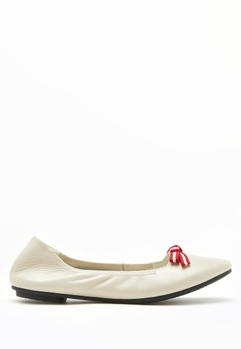 PAZZION beige Nautical Bow Front Flats 5630CSH736C6BEGS_1