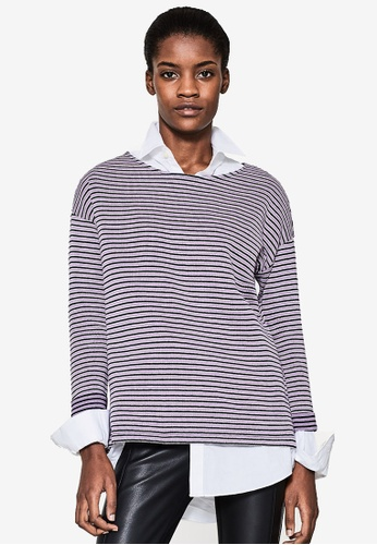 ESPRIT purple 3/4 Sleeve Sweatshirt C264DAAA01DD44GS_1