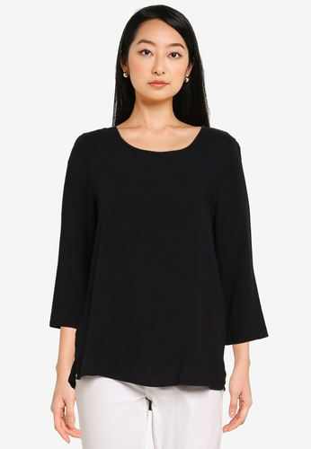 ONLY black Nova Life 3/4 Sleeve Top C670CAA3F89352GS_1