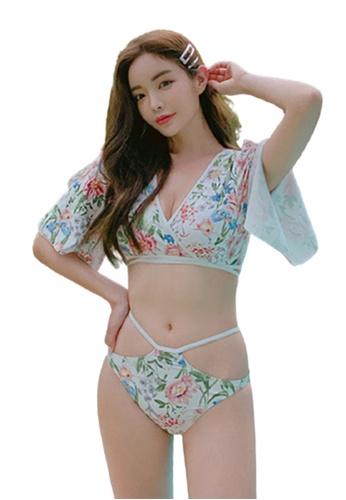 Halo multi Printed Swimsuit Bikini 5F34DUSBCD2A47GS_1