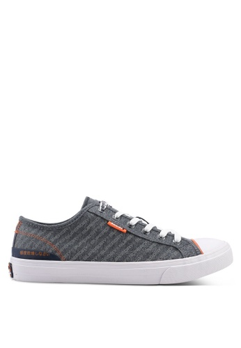Superdry grey Trophy Classic Low Sneakers 63879SH81AC920GS_1