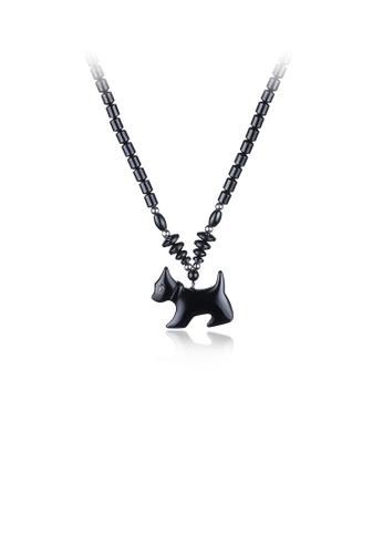 Glamorousky white Elegant Fashion Noble Cute Black Puppy Pendant and Necklace 0BB8DAC163BCAFGS_1