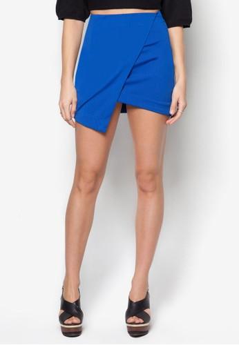 簡約裹式短裙,zalora 評價 服飾, 迷你裙