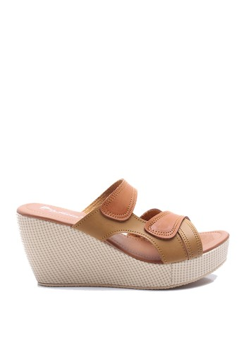 Dr. Kevin Women Wedges Sandals 27318 - Tan