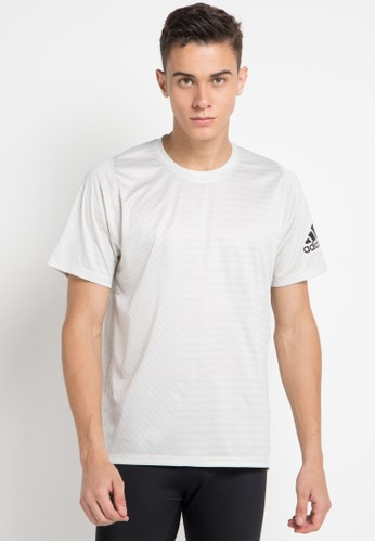 adidas black and white adidas freelift_sport heathered strong graphic tee 8CF87AAE292638GS_1