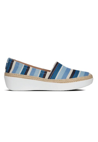 FitFlop blue Fitflop Casa Stripey Loafers (Blue) AD960SH86B588EGS_1