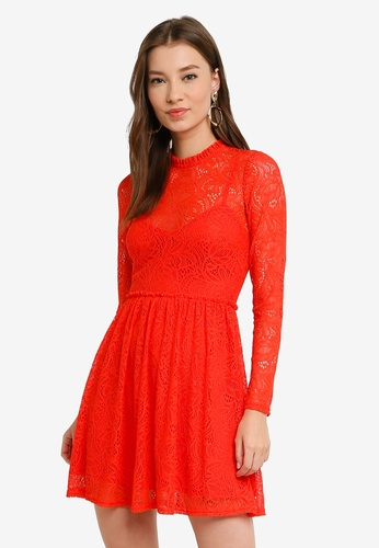 Bardot red Sara Lace Dress 580F6AA47ABD04GS_1