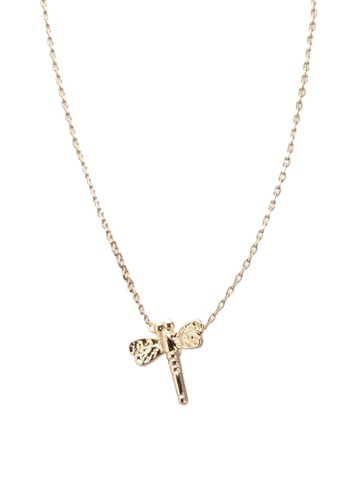 Orelia London gold Congratulations Dragonfly Giftcard Necklace OR747AC0SC5MMY_1