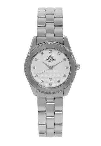 Roscani silver Roscani Mae B66 (Dual Pattern Dial) Stainless Steel White Bracelet Women Watch 76C16ACB21252CGS_1