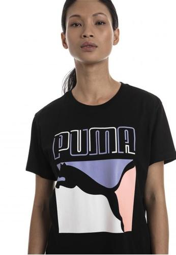 puma black Graphics Women's Tee F821AAA03B0DE4GS_1
