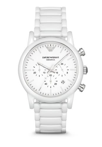 Emporio Armani white Armani White Ceramic Watch AR1499 AR024AC74RURMY_1