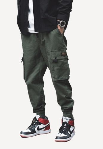 hk-ehunter green Men's Pocket Pants 5EF99AA2C5D0EBGS_1