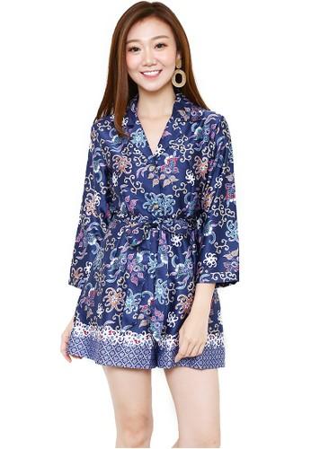 Flike Batik multi Batik Flike Store Dress Wanita Dress Flare Dragon Blue  8BCAEAAE80F382GS 1 d376fc6dde