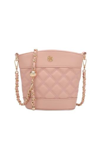 Wild Channel pink Ladies Chain Sling Bag CE3AEACDB2AC5AGS_1