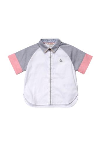 PONEY white Poney Baby Rayson Raglan Short Sleeve Shirt 1D97CKA1CFCBE5GS_1