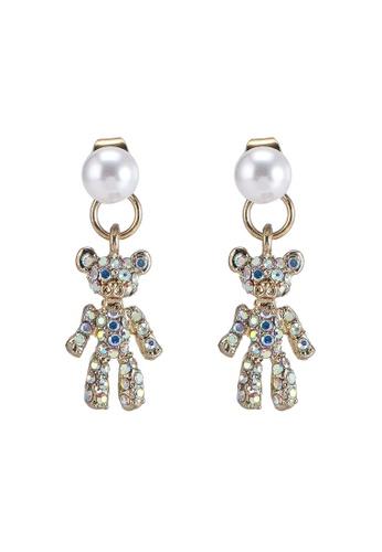 Saturation gold Kuma Swing Earrings C2C10ACE0CF232GS_1