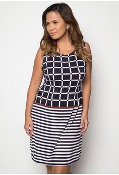 Plus Size Combination Print Dress