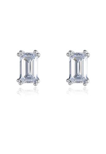 SUNRAIS silver High quality Silver S925 silver simple design earrings B45EDACE40E457GS_1