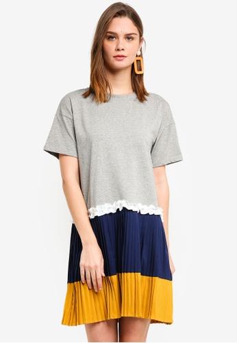 Haute Kelly grey Whan Casual Pleated Dress 90515AA9E61527GS_1