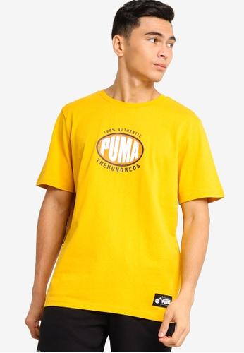 Puma Select gold Puma x The Hundreds Tee 23668AA4703DCDGS_1
