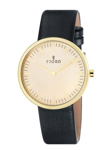 Fjord black Fjord Men's Genuine Leather Watch - FJ-3010-04 65D88AC275A523GS_1