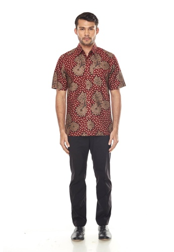 TUSCA red Eusoff Premium Batik Shirt FE459AA94EBBAFGS_1