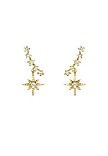 Sunnydaysweety gold Inlaid Star Earrings CA060311 00434ACDB1B549GS_1